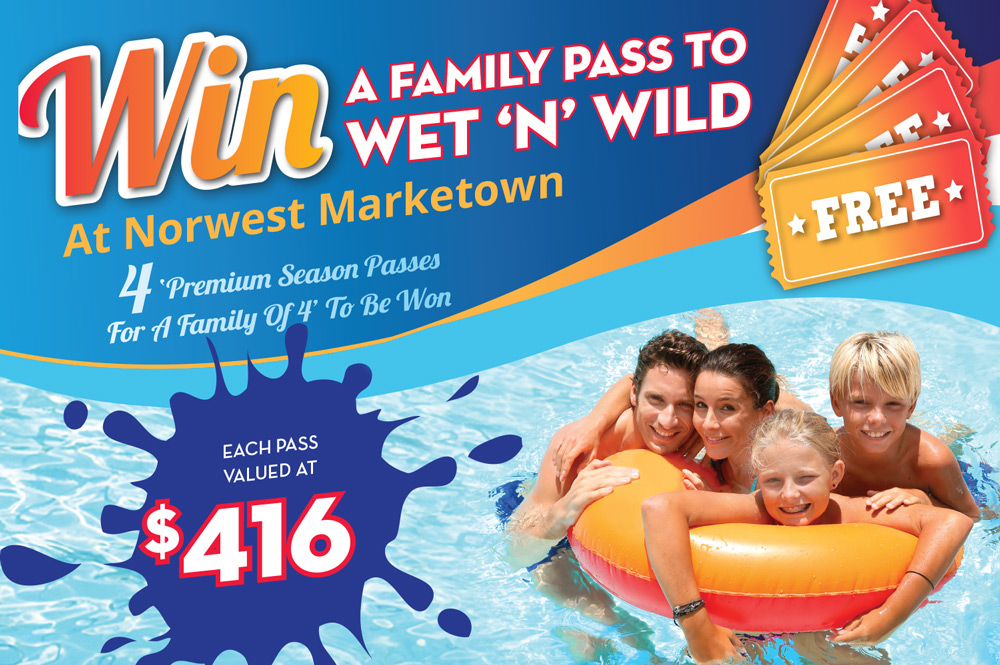 Win A Family Pass To Wet 'N' Wild